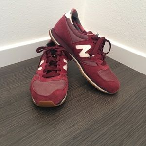 New Balance cranberry red tennis shoes