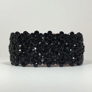 Iceaholic Jewelry - 🖤Linda Flora Bracelet - Black with Black Crystals