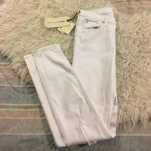 rag & bone Denim - Rag & Bone White Distressed Skinny Jeans