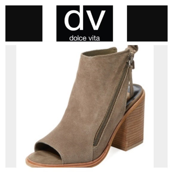 dolce vita open back booties