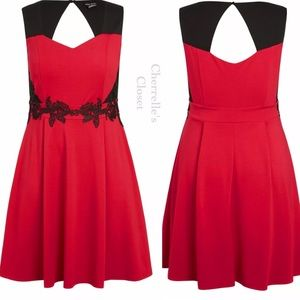 City Chic Sweetheart Fit & Flare Dress Plus Size
