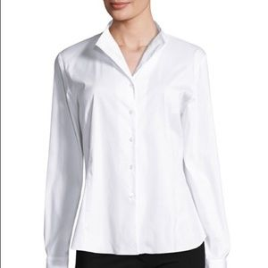 Lafayette 148 New York Tops - Lafayette 148 White Button Up