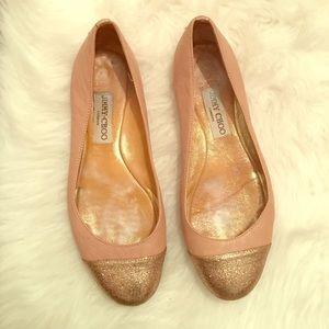 Jimmy Choo Shoes - Jimmy choo glitter cap toe Whirl flats