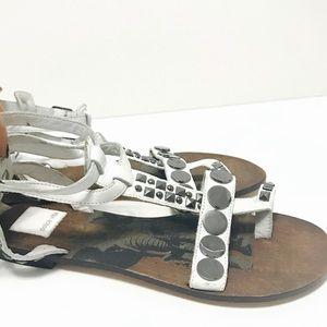 Dolce Vita Shoes - Dolce Vita White Sandals Flats 7.5
