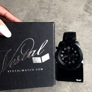 Vestal Jewelry - NEW 🔥 Blacked-Out Vestal Stainless Steel Watch