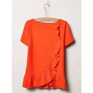 Anthropologie ruffle top