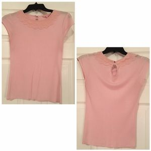 Ted Baker Tops - Ted Baker Peter Pan Collar Top Blouse