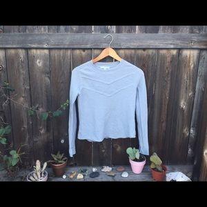 Rachel Zoe Tops - PIPERLIME 100% wool waffle knit SZ M light blue
