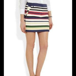 J.crew stripped mini skirt