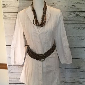 Kenar white cotton/spandex tunic..great beach look
