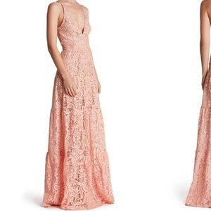 "Romantic Lace Fit and Flare Maxi Gown ""Melina"""