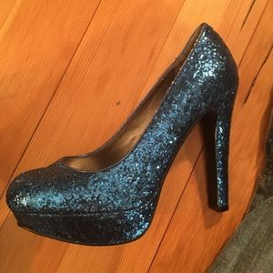 G by Guess Shoes - Guess blue glitter heels