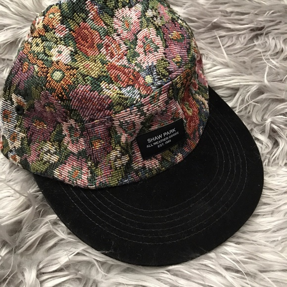 55b00171 Accessories | New Floral Tapestry 5 Panel Hat | Poshmark