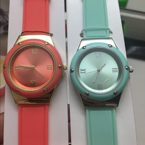 Michaels  Accessories - Bundle, Coral and Mint Watches!