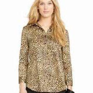 Lauren Ralph Lauren Tops - Ralph Lauren Leopard Print Shirt Size Large EUC
