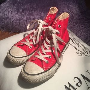 Converse Shoes - Red high top converse!