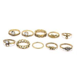 Jewelry - 10PCS Waterfall Rings set