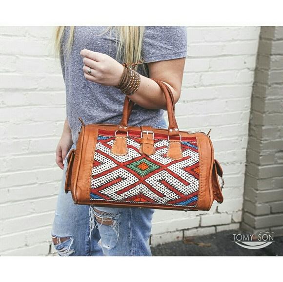 Kilim Pochette Kilim bag Vintage Kilim and Genuine Leather kilim crossbody bag