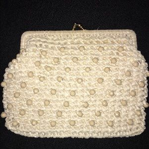 Handbags - Styled by Simon Italy Woven Clutch