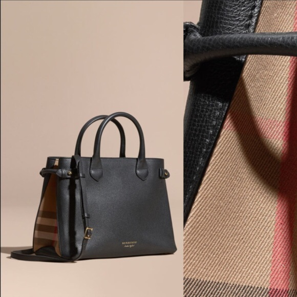 Burberry Handbags - The Medium Banner in Leather and House Check 82fe378bb7a90