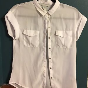 Short sleeve chiffon blouse