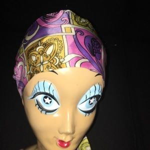 Accessories - Vintage Headscarf Pink and Purple