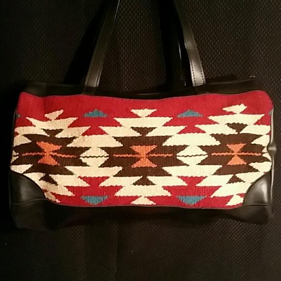 c76651047340 Artisan Handwoven Duffel Weekender Bag NEW. Boutique. El Paso ...