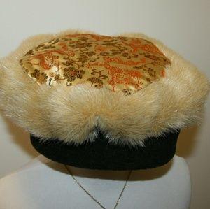 Custom Accessories - Fur Trimmed Fleece & Satin Hat