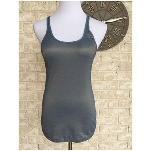 474352a8dff7e1 lululemon athletica Tops - 🍋🍋Lululemon Metallic Blue Gold Lightweight Tank