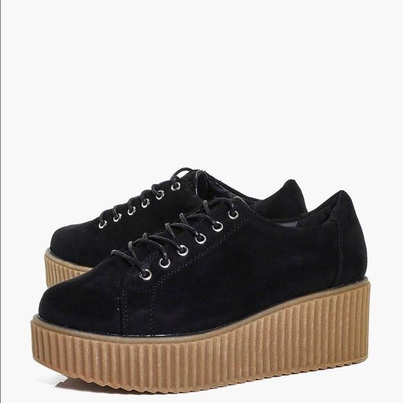 b6502e7aa5c1 Boohoo Shoes - Boohoo Platform Creepers Flatform Sneakers Size 7
