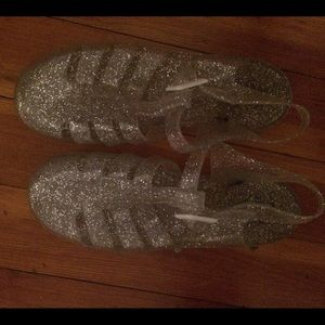 JuJu Shoes - Juju jellies flat sandal shoes glitter jelly ankle