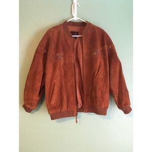 Jackets & Blazers - Vintage suede bomber coat