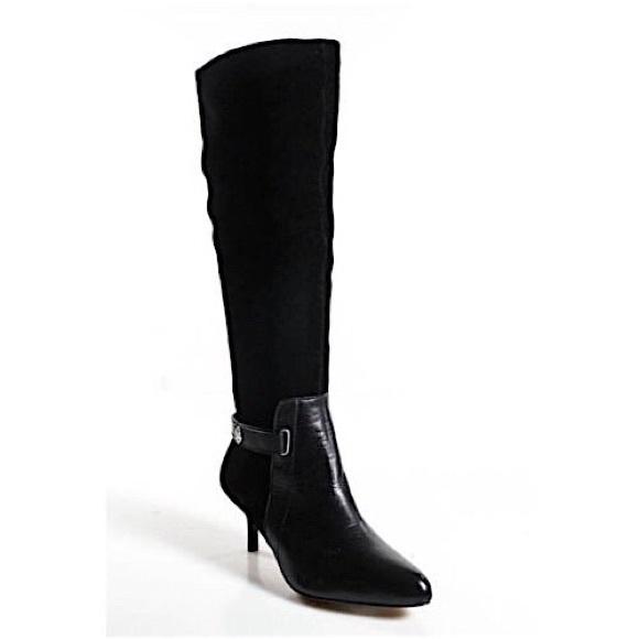 635b24ea4d Coach Shoes | Fara Black Suede Leather Kitten Heel Boot 6 | Poshmark