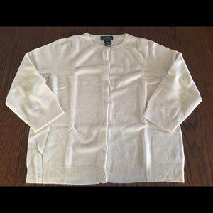 Lauren Ralph Lauren ivory cashmere cardigan