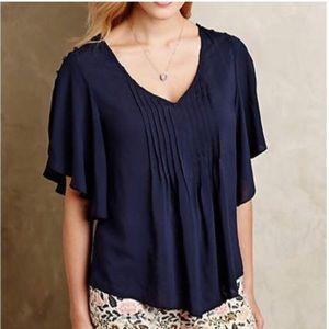 {Anthropologie} Maeve Flutter Maya blouse