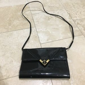 Handbags - Black and gold clutch
