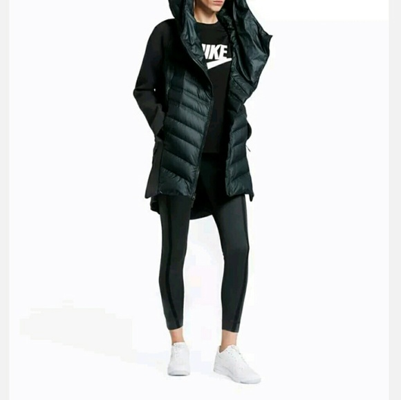 f46abc261fac Nike Tech Fleece Aeroloft Dark Green Down Jacket P