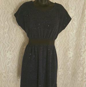 Fishbowl Navy Blue Sparkle Dress