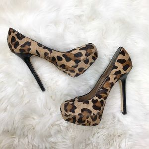 Steve Madden Shoes - Steve Madden BEVV Brown Black Leopard Print Pumps