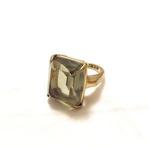 J. Crew olive gem costume ring