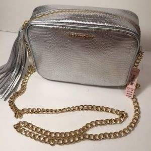 Victoria's Secret Handbags - Victoria's Secret Silver & Gold Purse