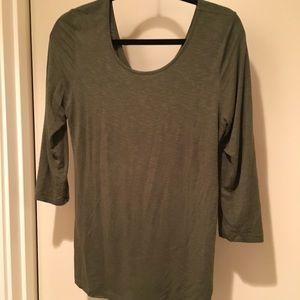 Anthropologie Dolan Olive 3/4 length shirt!