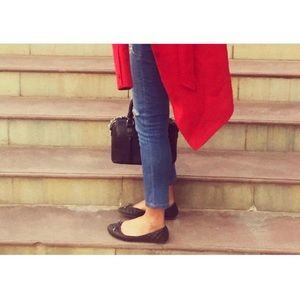 Boutique Shoes - Quilted Black Ballerina Flats