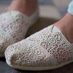 Boutique Shoes - Light Pink Classic Crochet Slip-On