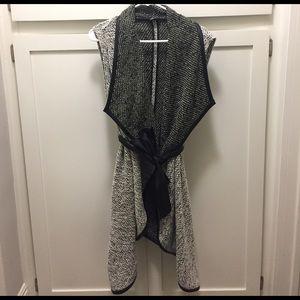 bebe Jackets & Blazers - Bebe Long Sleeveless Sweater Vest