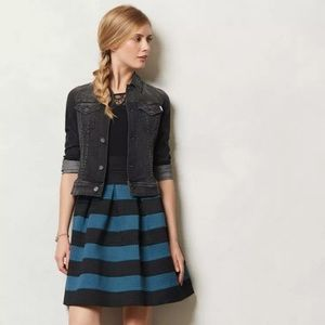 Girls from Savory Anthropologie Ponte Bell Skirt S