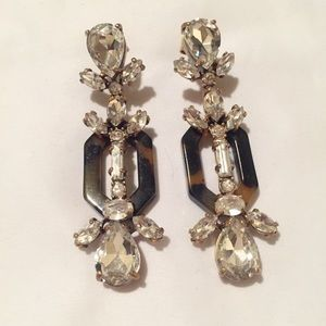 J. Crew Jewelry - J.Crew crystal and tortoise shell earrings
