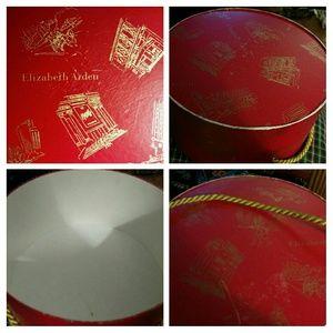 Elizabeth Arden Accessories - 1960 VINTAGE Elizabeth Arden Hat Box W Gold Rope