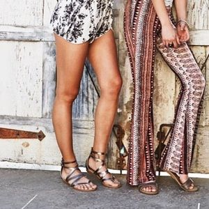 Blowfish Shoes - Metallic Gladiator Sandals