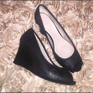 Rockport Shoes - Rockport Laser Peep Toe Wedge